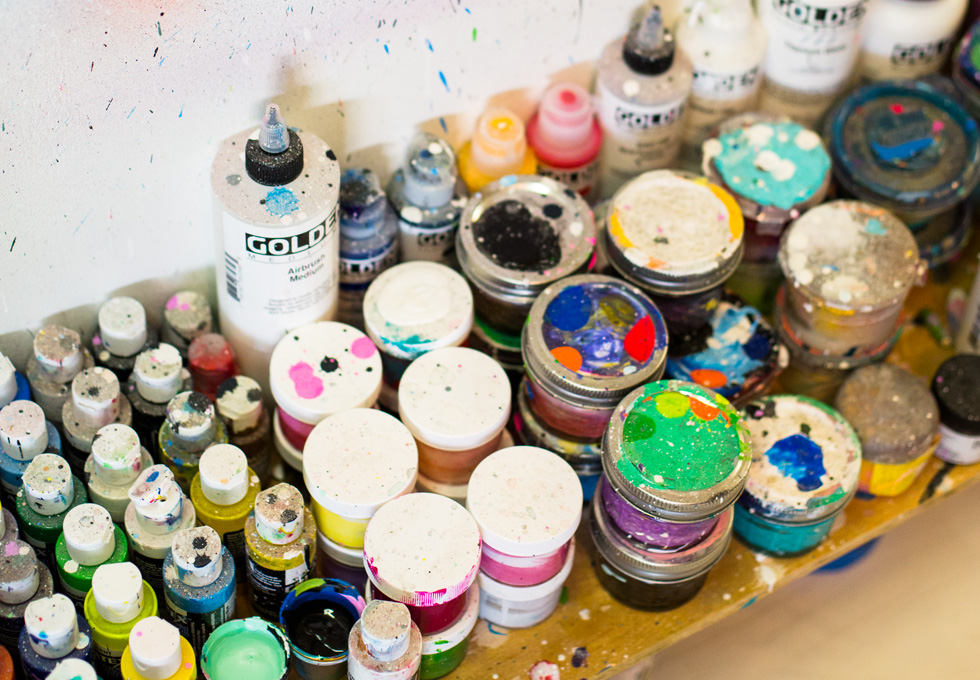 artist studio tour of Michael Dotson in Brooklyn, New York