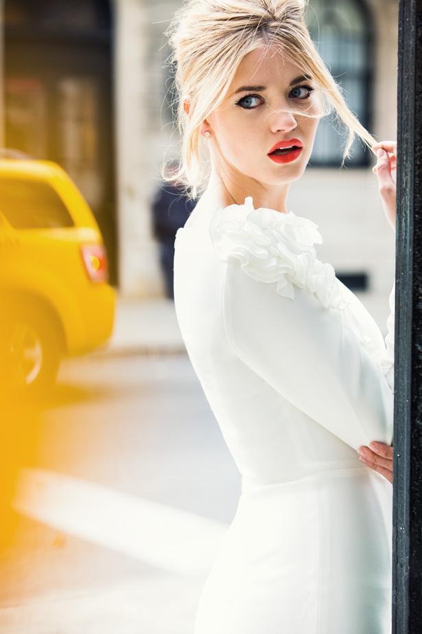Manhattan dress white stuff on lips