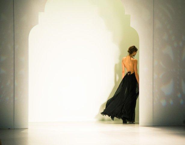 New York designer Tadashi Shoji fall winter 2014 collection shown at NYFW.