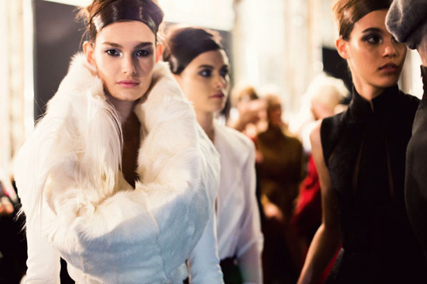 Donna Karan's 30th anniversary collection down on Wall Street for Fall 2014.
