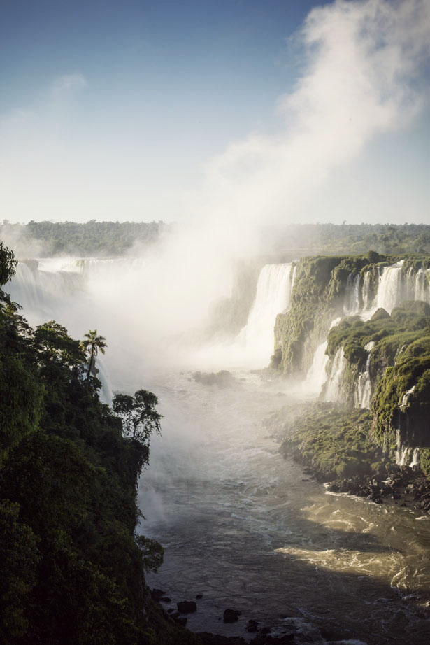 A walk along Iguassu Falls, one of the natural wonders of the world.