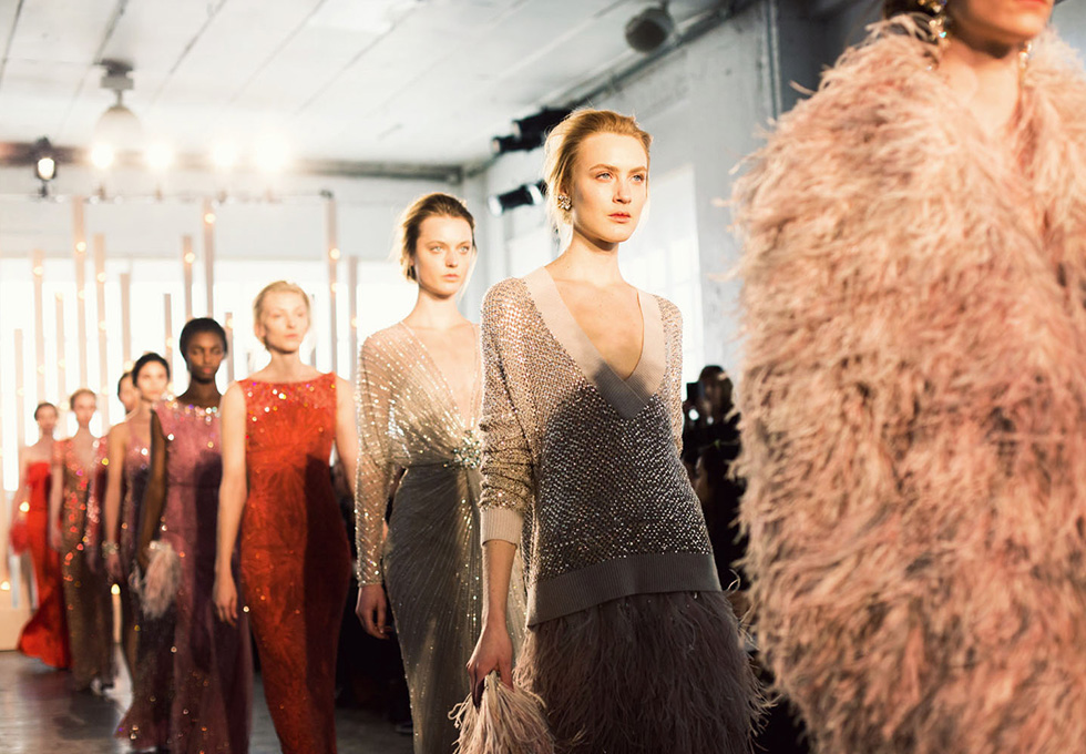 Jenny Packham's fall/winter 2014 collection at NYFW