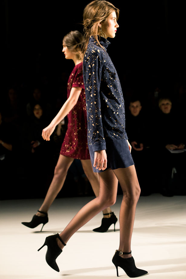 New York designer Tadashi Shoji fall winter 2014 collection shown at NYFW.