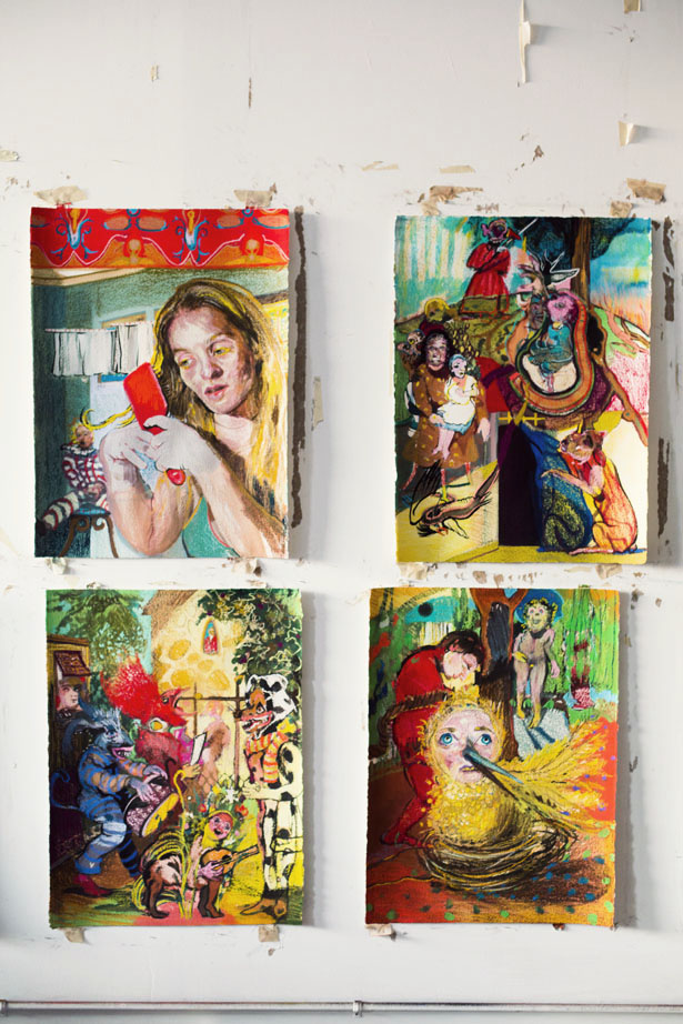 Artist Natalie Frank in her Brooklyn art studio