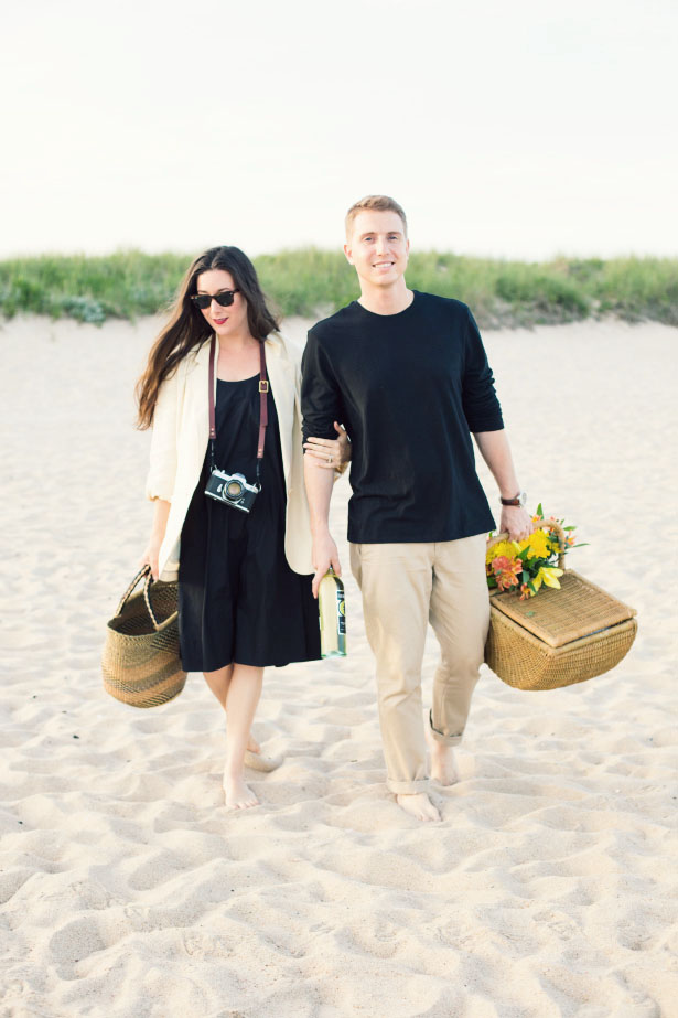 The perfect date night, a romantic summer picnic on the beach.