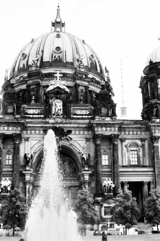 Berlin in black and white film photographs
