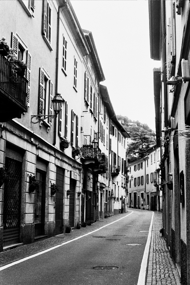 Snapshots on black and white from from Lake Como, Italy