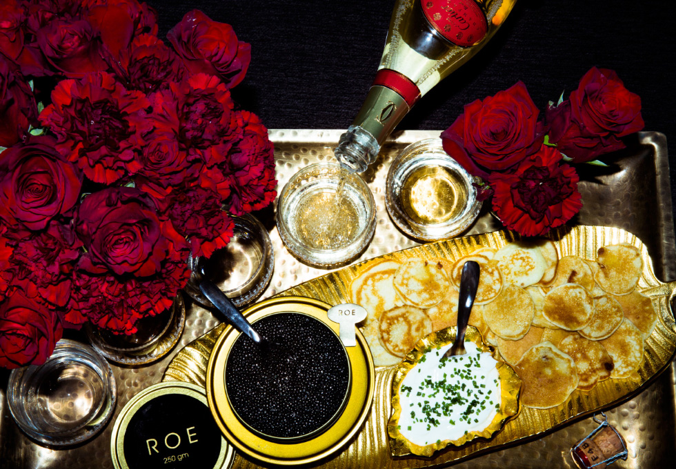 Roe Caviar, a sustainably farmed caviar from California only available in November and December.