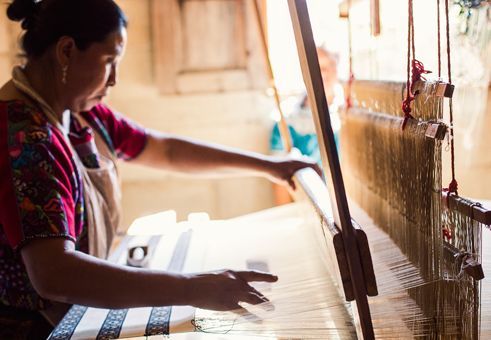 Visiting Guatemalan's artisans creating the fabrics for Mercado Global Handbags empowering indigenous women to overcome poverty & become agents of change.