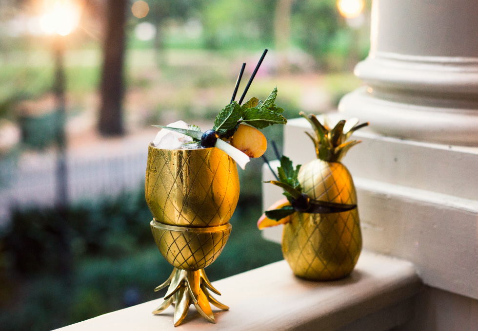 A bourbon based pineapple cocktail recipe inspired by Savannah, Georgia and their Southern Hospitality.
