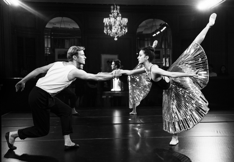 The New York City Ballet's dress rehearsal the night before for Cartier's reopening of their 5th avenue mansion.