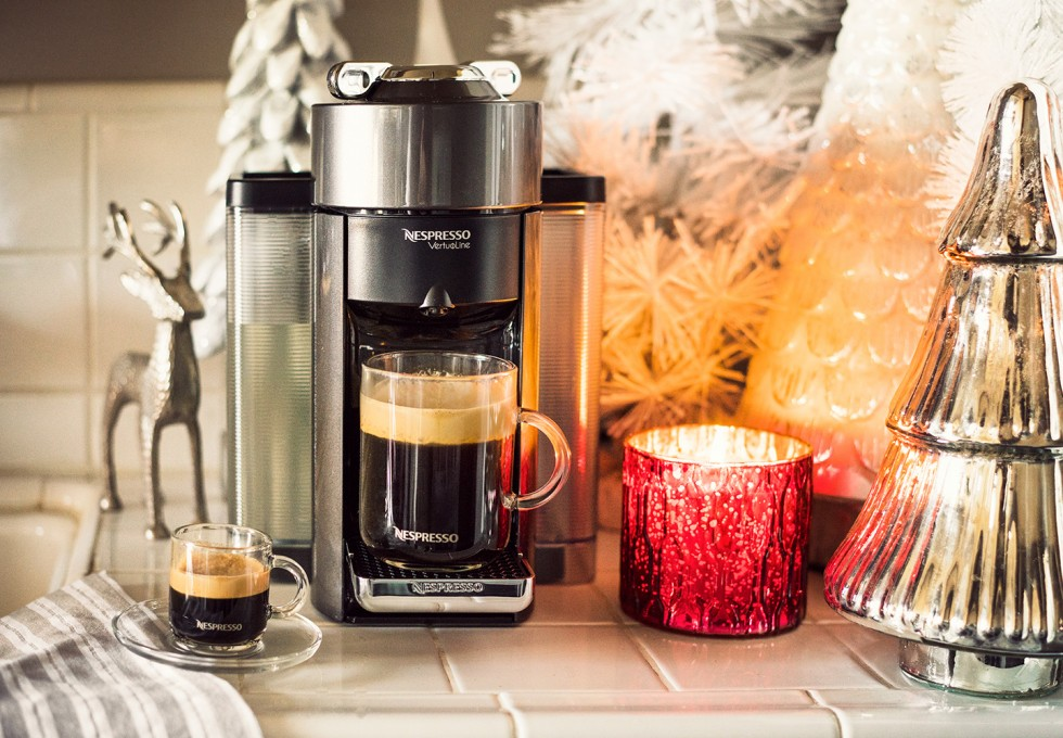 """Open this one first!"" Give the gift of Nespresso this holiday season."