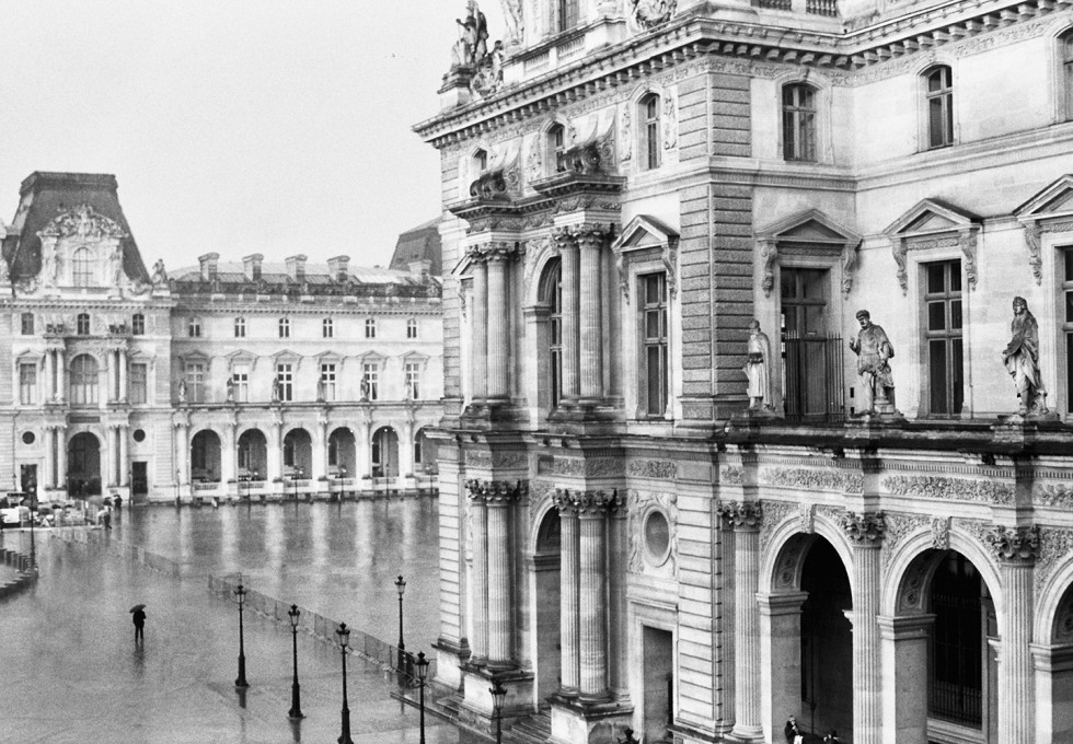 A black and white film story by photographer Jamie Beck of Paris in the winter...